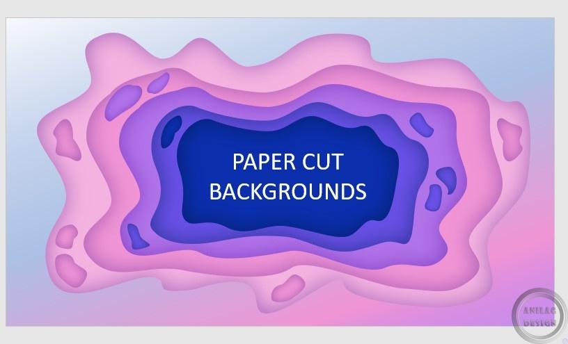 Объяснение и показ как создать дизайн Paper Cut в оформлении презентаций
